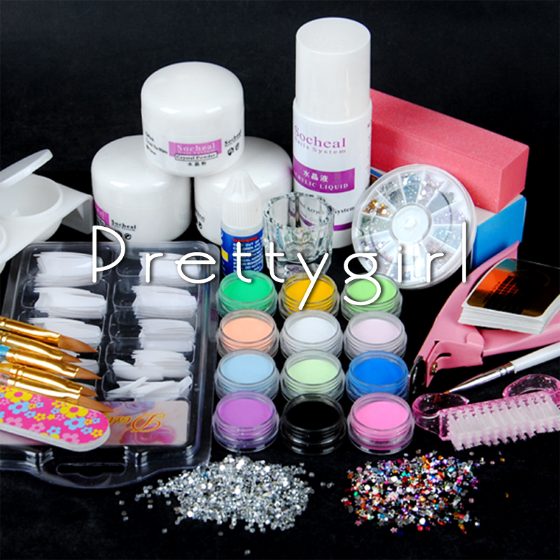 Nail Art Supplies Sale 1 Set Colored Acrylic Powder: Online Buy Wholesale Acrylic Nail Kit From China Acrylic