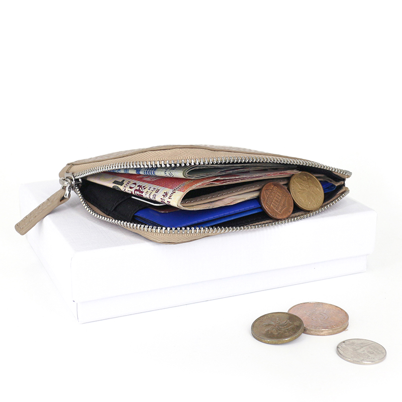 kvinnor plånböcker lyx märke äkta läder dam dragkedja mynt - Plånböcker - Foto 5