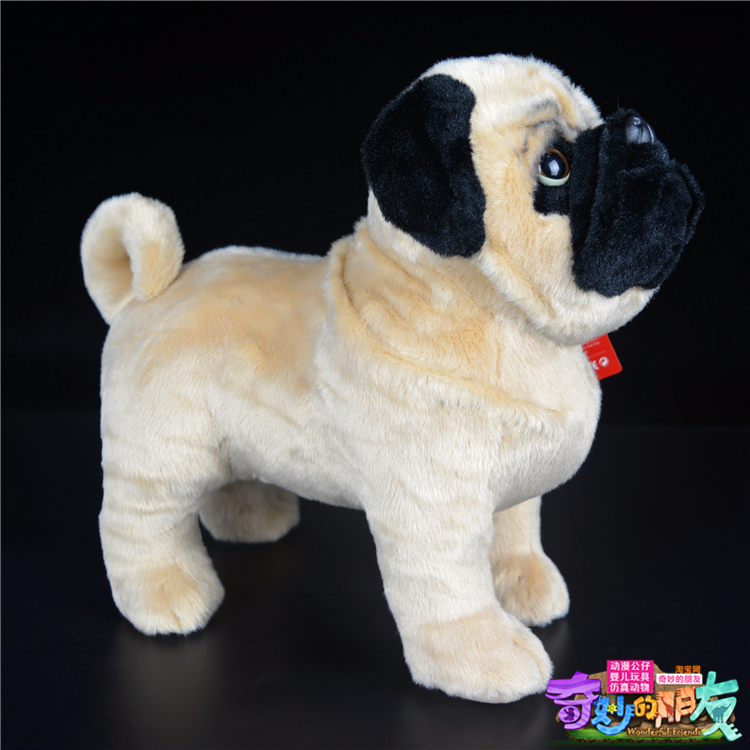 Original Big Simulation Pug Dog Animal Stuff Plush Toy Doll Children Birthday Gift Christmas Gift Collection