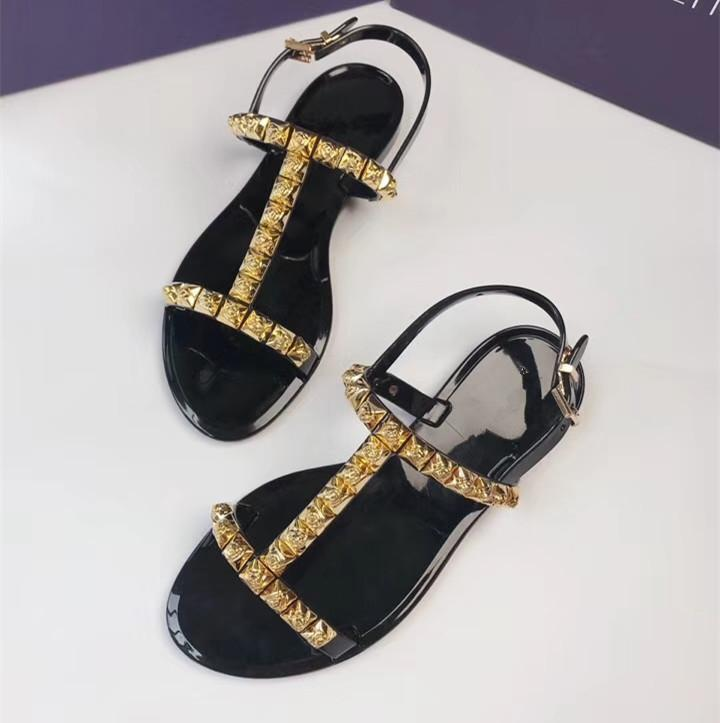 Модные летние босоножки; женские прозрачные сандалии со стразами; шикарная прозрачная обувь с Т образным ремешком; модная женская пляжная о... - 3