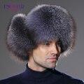 2016 Зима новый натуральный мех лисы шляпа для мужчин реального меховая шапка теплая достаточно натуральная кожа крышка комфортно и случайные лучших продавец