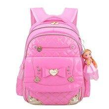 Korean Girl School Bags PU Leather Bag Princess Style Children School  Backpacks 1 - 3 - e7400cb450af0