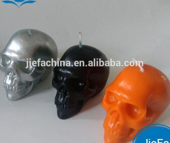 2017 Halloween Wax Skull Candle,black Skull Candles