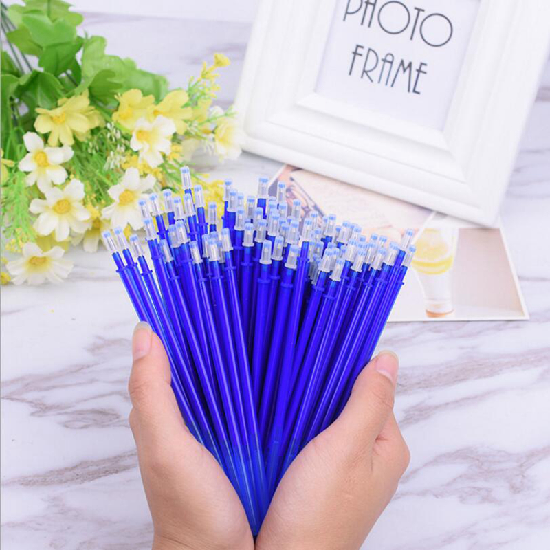 20 PCS/Set Erasable Ink Magic Gel Pen Refill For Student Writing And Office Supplies 0.38mm Gel Pen Refill Stationery Store wholesale special 10pcs erasable pen blue black dark blue red magic pen office supplies student exam spare