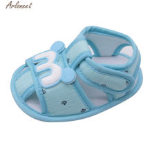 ARLONEET 2018 Newborn Baby Shoes First Walkers Cartoon Cat Shoes Crib Bebe Girls Princess Ballet Soft Soled Anti-Slip Footwear(China)