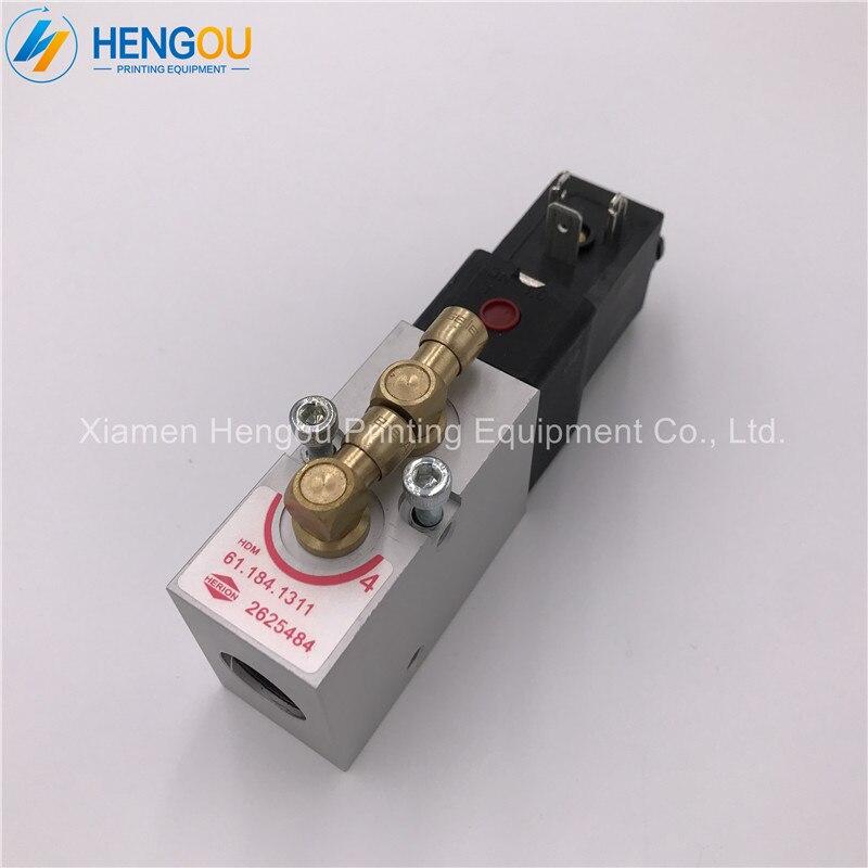 2 pieces China post free shipping heidelberg SM102 CD102 machine 24V DC valve 98.184.1051 61.184.1131 S9.184.1051