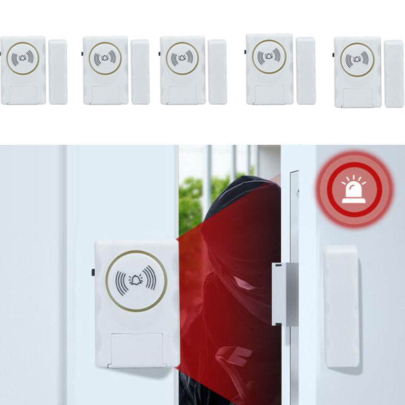 5 X WIRELESS Home Window Door Burglar Security ALARM System Magnetic Sensor 130db Batter LR44 Included Free Shipping