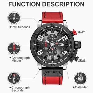Image 3 - 2019 CURREN Chronograaf Mannen Horloges Top Luxe Merk Mode Quartz Horloge Heren Outdoor Sport Leger Klok Relogio Masculino