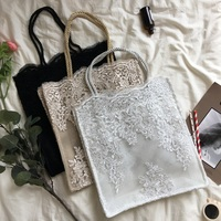 Free Shipping 2pcs White Black Champagne Lace Handbag Wedding Birthday Bride Bridesmaid Gifts Bacheorette party Favors Gifts Bag