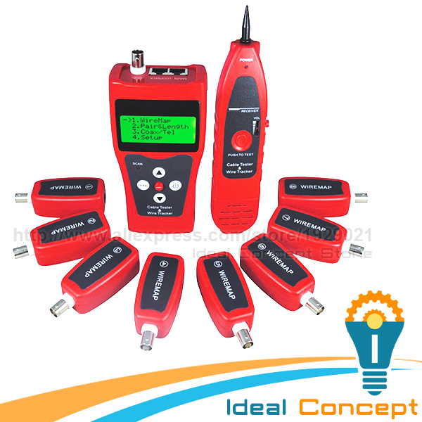 Multipurpose Network LAN Cable Inspection Telephone Wire Coaxial Cable Tester 5E 6E with 8 Remote Identifier multipurpose stripper coaxial cable power cable f connector wire strippers tools for rg6 rg11 5 7hlt505