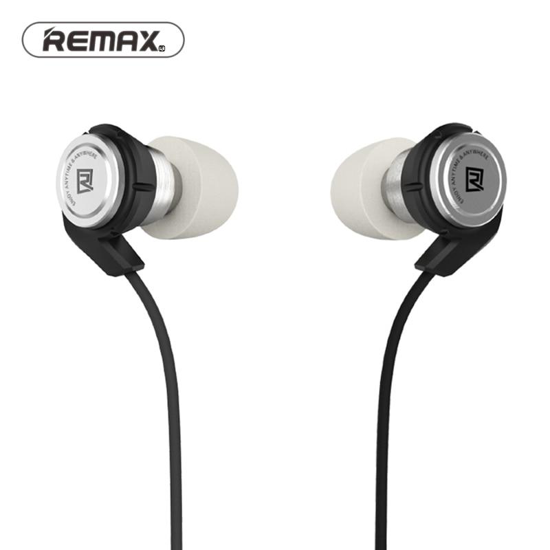 Remax estéreo en la oreja con cable de bobina móvil + equilibrio armture híbrido