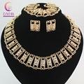 Мода ювелирных изделий для женщин серьги ожерелье браслет позолоченный кристалл классический шкентель свадебное платье аксессуары