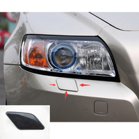 Black Plastic Front Left Or Right Bumper Headlight Washer Jet Nozzle Cover Cap Easy Install For