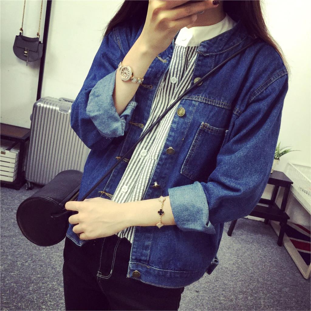 483683d0c746 2018 sommer frauen denim jacken frauen klassische volle hülse  oberbekleidung jeans mantel plus frauen. Click here to ...