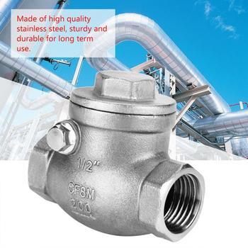 """Válvula de retención de 1/2 """"DN15 valvula de acero inoxidable válvula de retención de giro de una vía hilo femenino WOG 200PSI Válvula de compresor de aire"""