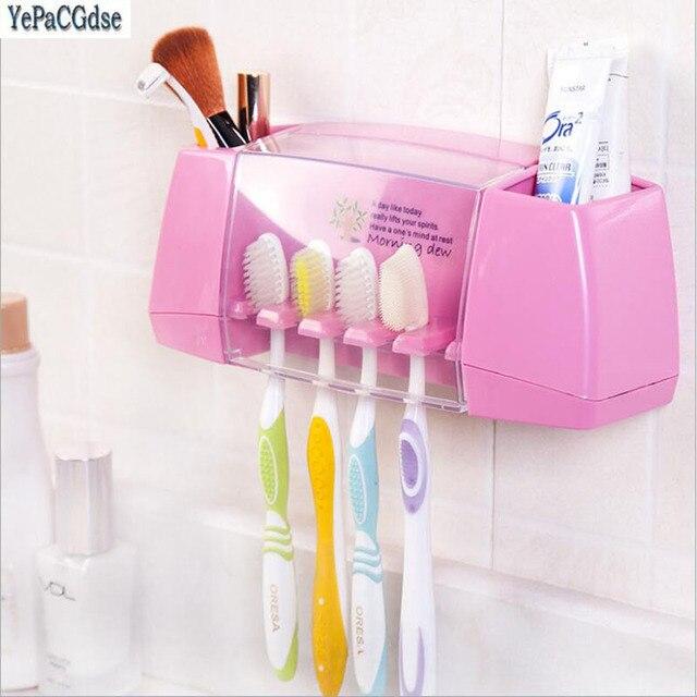 4 di colore multifunzionale spazzolino da denti scatola di immagazzinaggio titol