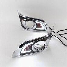 Éclairage de jour étanche, 1 ensemble de Style pour voiture, pour Toyota Hilux VIGO CHAMP 2012 2013 2014 LED DRL