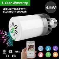 E27 220v Led Lamp Acrylic 3W 4 5W Wireless Wifi Remote Control Bluetooth Speaker Music Smart