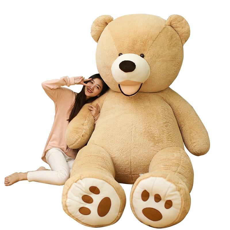 100-260 см Американский гигантский плюшевый мишка, плюшевые игрушки, мягкий Мишка, внешнее кожаное пальто, популярные подарки на день рождения ...