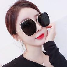 2019 New Metal Eyebrow Sunglasses, Irregular Square Mesh Red, Euro-American Fashion Avant-garde Sunglasses