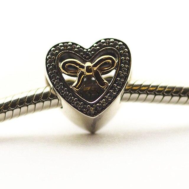 9bef096e9d42 Retiene El Amor Perlas 14 K Oro Arco Nudo DIY Bisutería Fit pandora  encantos pulseras de