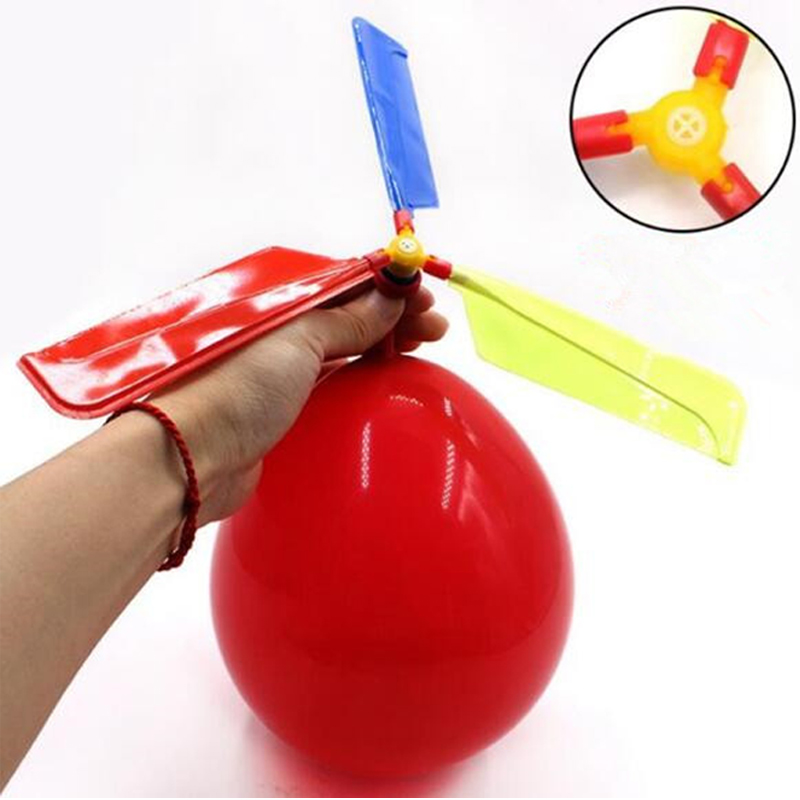 Funny Traditional Classic Sound Balloon Helicopter UFO Kids Child Children Play Flying Toy Ball Outdoor Fun Sports Toy Xmas Gift