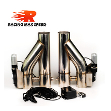 2.5 3 inch stainless Steel 1 drag 2 doubled valve exhaust cutout Pipe Muffler Bypass Exhaust Trim Down Tube Remote Control DYTR rastp exhaust control valve set with vacuum actuator cutout 3 0 76mm pipe close style with wireless remote controller rs bov041