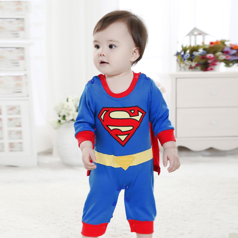 Superman Baby Jumpsuit Super Cute Baby Boy Girl Clothes Be ...