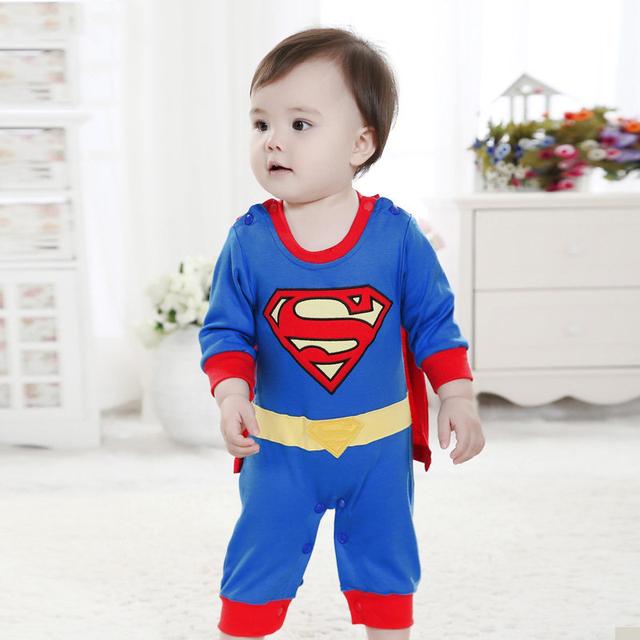 Superman Macacão Super Cute Baby Boy Girl Roupa Do Bebê Ser Meninas Tudo em Um Macacão de Bebê Macacão Macacão 2016