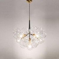 Творческий пузырь светодиодные подвесные светильники для комнаты бар прозрачного стекла абажур, лофт подвесной светильник современные св