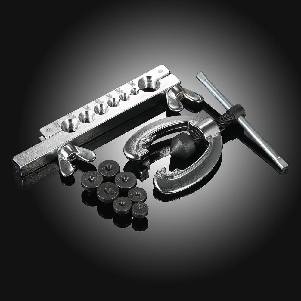 9pcs Professional Double Pipe Flaring Tool Kit Set Tube Bender Pipe Repair Mechanic Brake Plumber Aluminium Copper Brass Flares