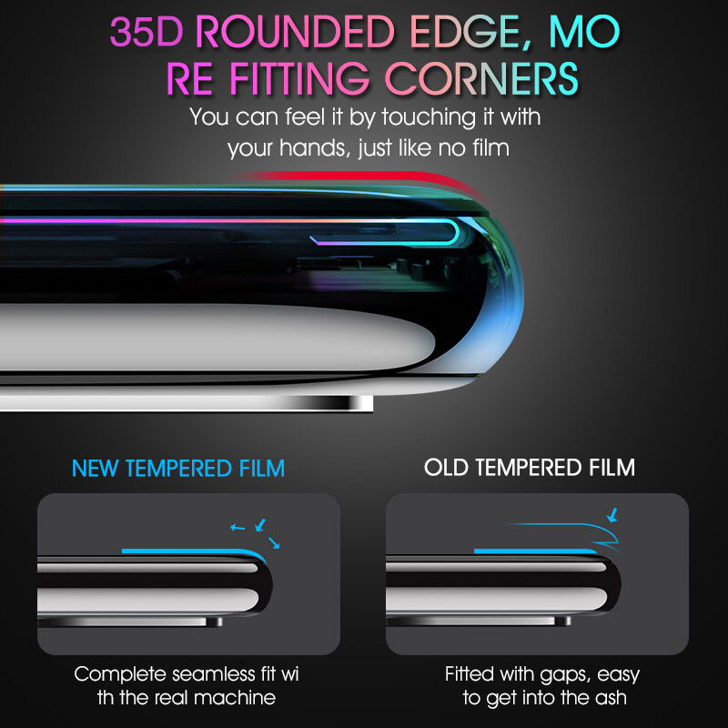 Image 3 - 35D Protective Glass For Huawei P20 Lite Pro P30 P10 Lite Tempered Glass For Huawei Honor 9 Lite 10 V10 Screen Protector Film-in Phone Screen Protectors from Cellphones & Telecommunications