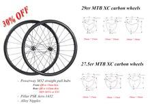 29er 650B MTB XC tubeless carbon wheelset 29in straight pull wheels 30X30 30X25 28X25 28X28 UD 3K 12K 24H 28H SHN 10s 11s XD XX1