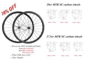 Image 1 - 29er 650B MTB XC tubeless carbon wheelset 29in straight pull wheels 30X30 30X25 28X25 28X28 UD 3K 12K 24H 28H SHN 10s 11s XD XX1