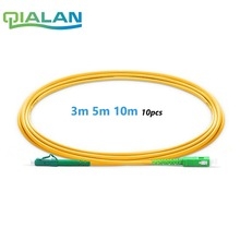 Optic Fiber Patchcord LC to SC APC 3m 5m 10m Patch Cord Simplex 2.0mm PVC Single Mode Cable Jumper