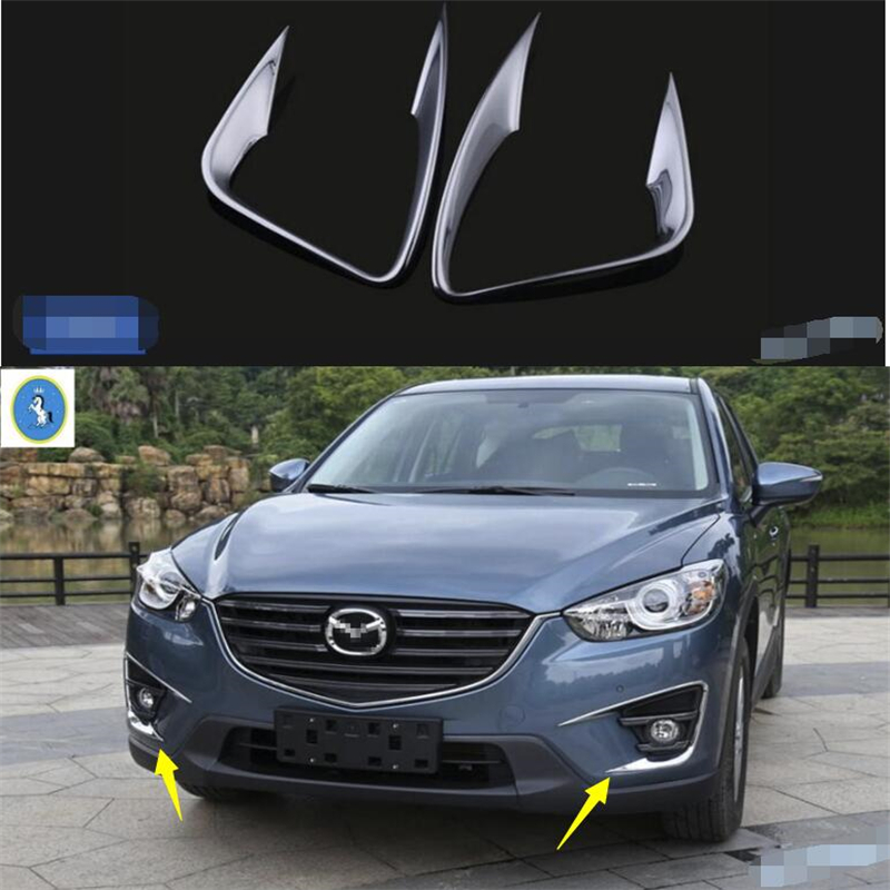 Yimaautotrims Auto Accessory ABS Chrome Front Bumper Fog Lights Lamps Eyelid Cover Trim 2 Pcs Set
