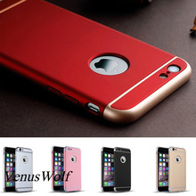 Luxury 3 in 1 Dropproof Full Bag Slim Cover 360 Case for Apple iPhone 7 7Plus 6 6s Plus 6s funda Logo Hole Mobile Phone Case