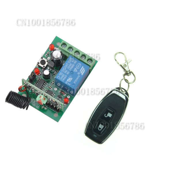 DC12V Radio Remote Control Switch System1Receiver&1Transmitter Momentary Toggle Latched Adjust with LED Indicator Push Button dc3 5v rf wireless radio remote control switch universal remote control lighting long distance 315 433 momentary toggle latched