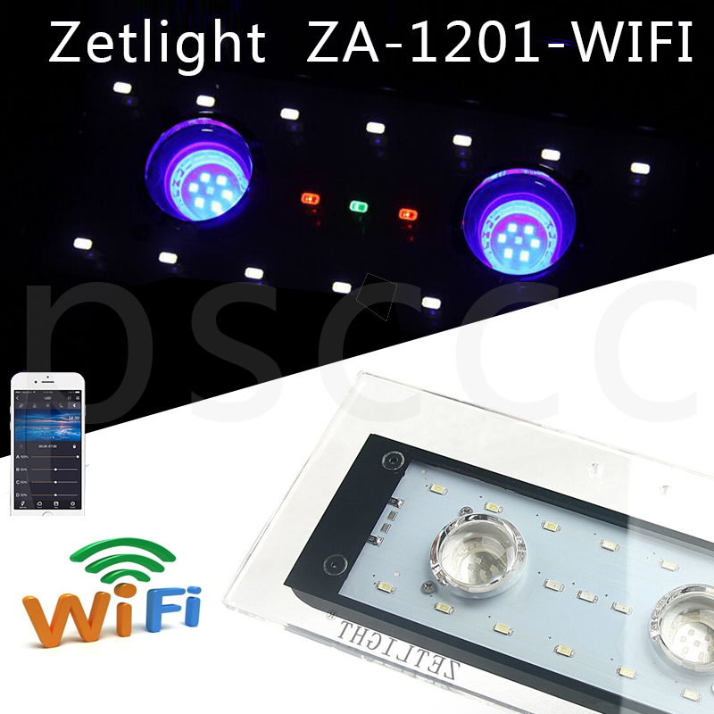 Zetlight AQUQ WIFI LED ZA1201 ZA1201L ZA1201WIFI Full spectrum seawater coral lamp through APP control light