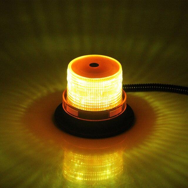 """4 """"Cal kopuła 12 LED mocowanie magnetyczne pojazd budowlany ostrzeżenie samochodu światło stroboskopowe Beacon bursztyn czerwony niebieski policji migające światła"""