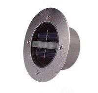Nieuwe zonne-energie led ondergrondse licht 3 leds outdoor tuin gazon licht roestvrij staal + gehard glas ondergrondse lampen