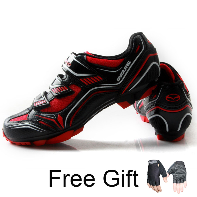 Teibao Cycling sneaker Mens Breathable Cycling font b shoes b font mtb Mountain bike font b