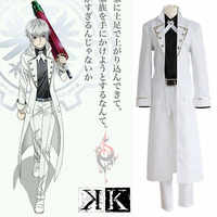 K Project K RETURN OF KINGS Isana Yashiro Cosplay Costume Full Set Uniform ( Trench-coat + Shirt + Pants + Belt + Bow tie )