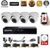 Eyedea 8 CH DVR Video Recorder 1080P 2 0MP White Dome 5500TVL Indoor IR Cut LED