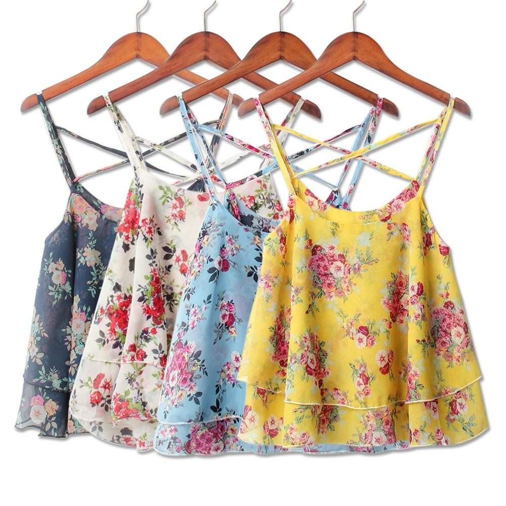 2018 Spring Women Shirts Tanks Top Summer Clothing Strap -9151