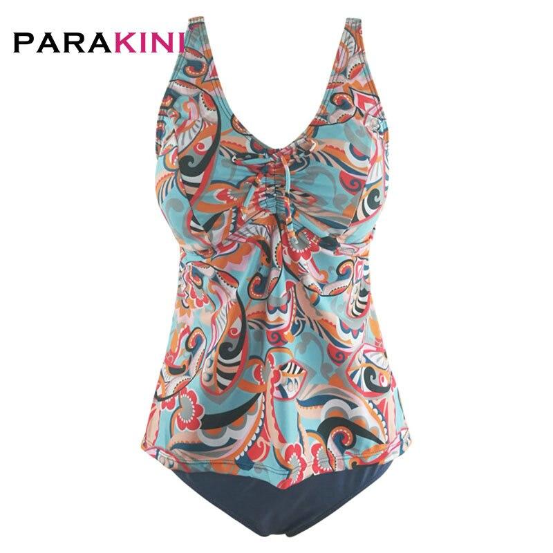 76c671188a8c PARAKINI 2019 traje de baño Sexy para mujer talla grande traje de baño  Tankini conjuntos natación ...