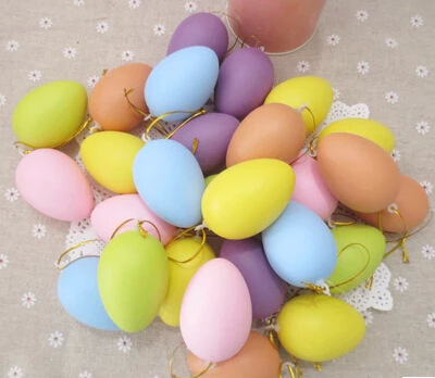 20 pcs mixed color 42x60mm easter decoration kids children diy 20 pcs mixed color 42x60mm easter decoration kids children diy painting egg with rope gifts plastic negle Choice Image