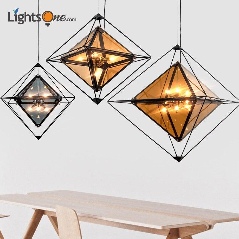 Alarm Nordic Postmoderne Lampen Creatieve Woonkamer Lamp Gepersonaliseerde Hotel Kleding Bar Tafellamp Restaurant Diamant Hanglampen Puur Wit En Doorschijnend
