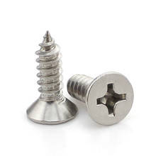30PCS-M3.5*8/10/12/16…50  GB846 304 Stainless Steel Countersunk Head Tapping Screws