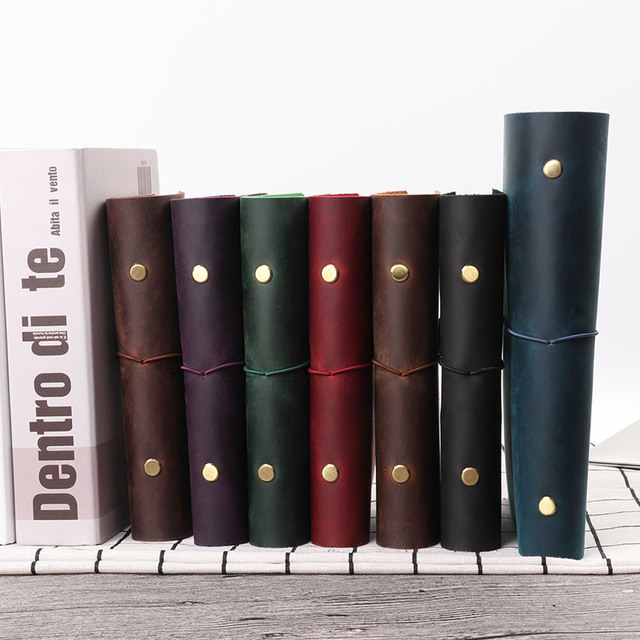 Hot Sale Classic Business Notebook A5 Personal A7 Genuine Leather Cover Loose Leaf Notebook Travel Journal Sketchbook Planner